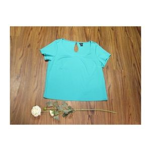 Torrid Teal Short Sleeve Cute Top